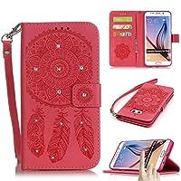 Galaxy s6Edge Plusケース、Firefish [キックスタンド]フリップフォリオ財布型ケースCampanulaエンボスと輝くダイヤモンドwith耐スクラッチ性保護カバーfor Samsung Galaxy s6Edge Plus