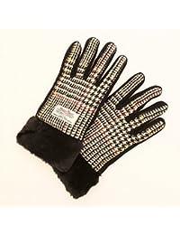 Harris Tweed ハリスツイード グローブ 手袋 スマートフォン対応 タッチパネルグローブ レディースグローブ ファーグローブ