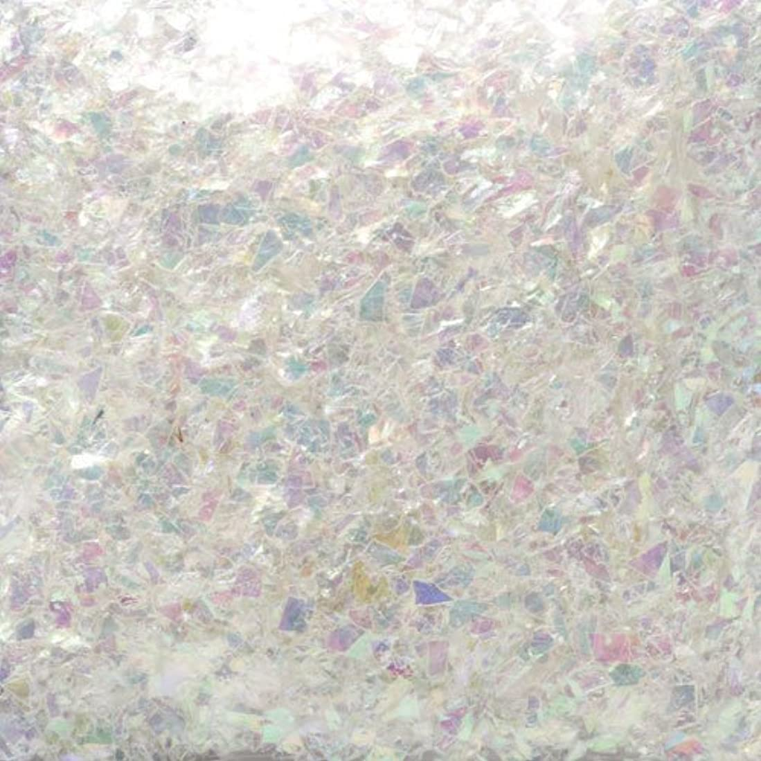 機関車自分大学院ピカエース ネイル用パウダー ピカエース 乱切オーロラ #710 ホワイト 1g アート材
