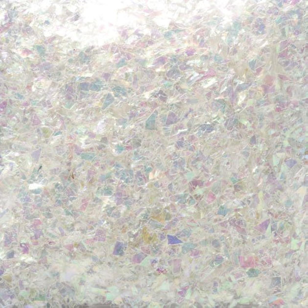 作曲家認可製品ピカエース ネイル用パウダー ピカエース 乱切オーロラ #710 ホワイト 1g アート材