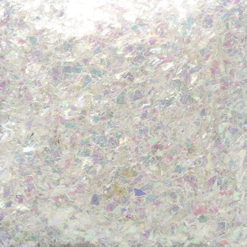 プラカードボイコット法律によりピカエース ネイル用パウダー ピカエース 乱切オーロラ #710 ホワイト 1g アート材