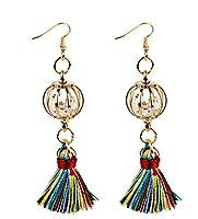 Sevenpring Jewelry ファッションイヤリング クリスタルボール タッセルピアス レディース ピアス ギフト (カラフル)