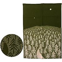 KLIPPAN クリッパン ウールブランケット 130x180 HOUSE IN THE FOREST グリーン