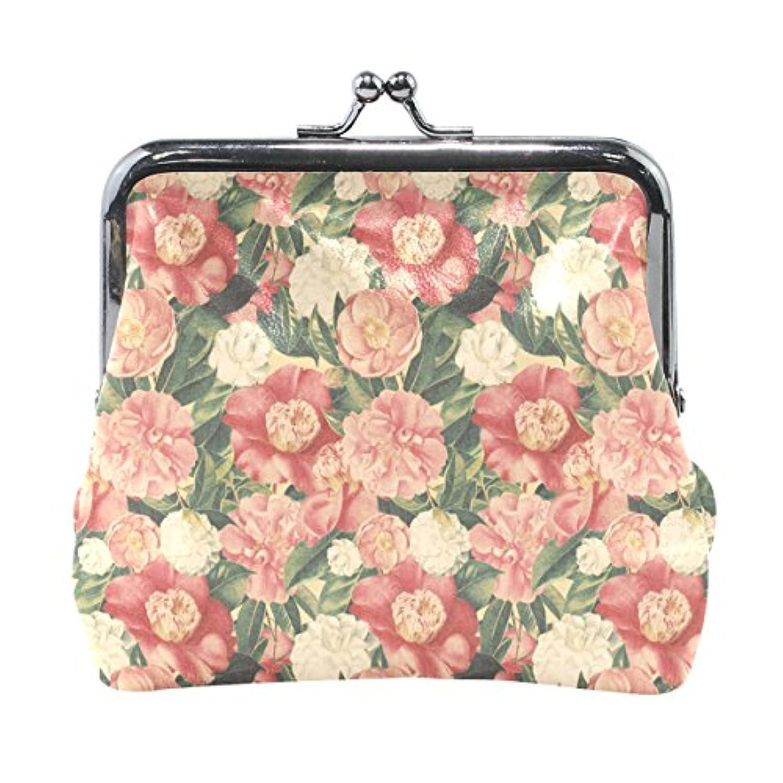 バララ(La Rose) 財布 がま口 小銭入れ レディース ブランド 和柄 かわいい PU 革 レザー 花柄 和柄 和風 学生 ミニポーチ 財布 ポーチ 小物入れ コイン 鍵 カード収納 約幅11.5cmx10.5cm