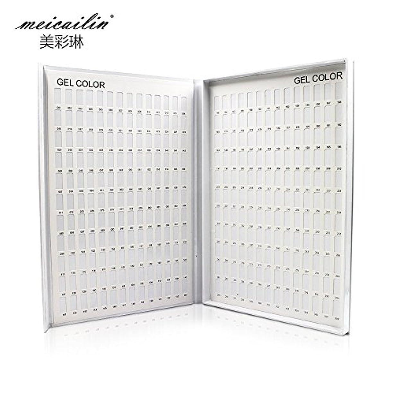大低下ものシンディー ネイルアートカラーチャートブック 色見本 サンプル帳 ホワイト 308色