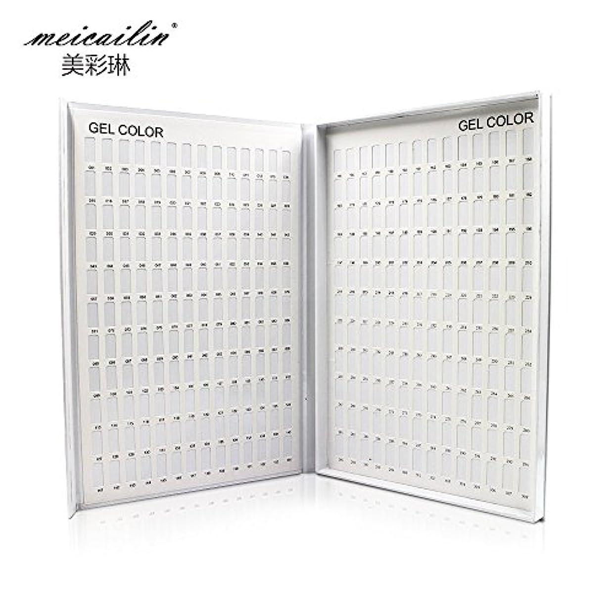 ジャンクション大胆なヘルシーシンディー ネイルアートカラーチャートブック 色見本 サンプル帳 ホワイト 308色