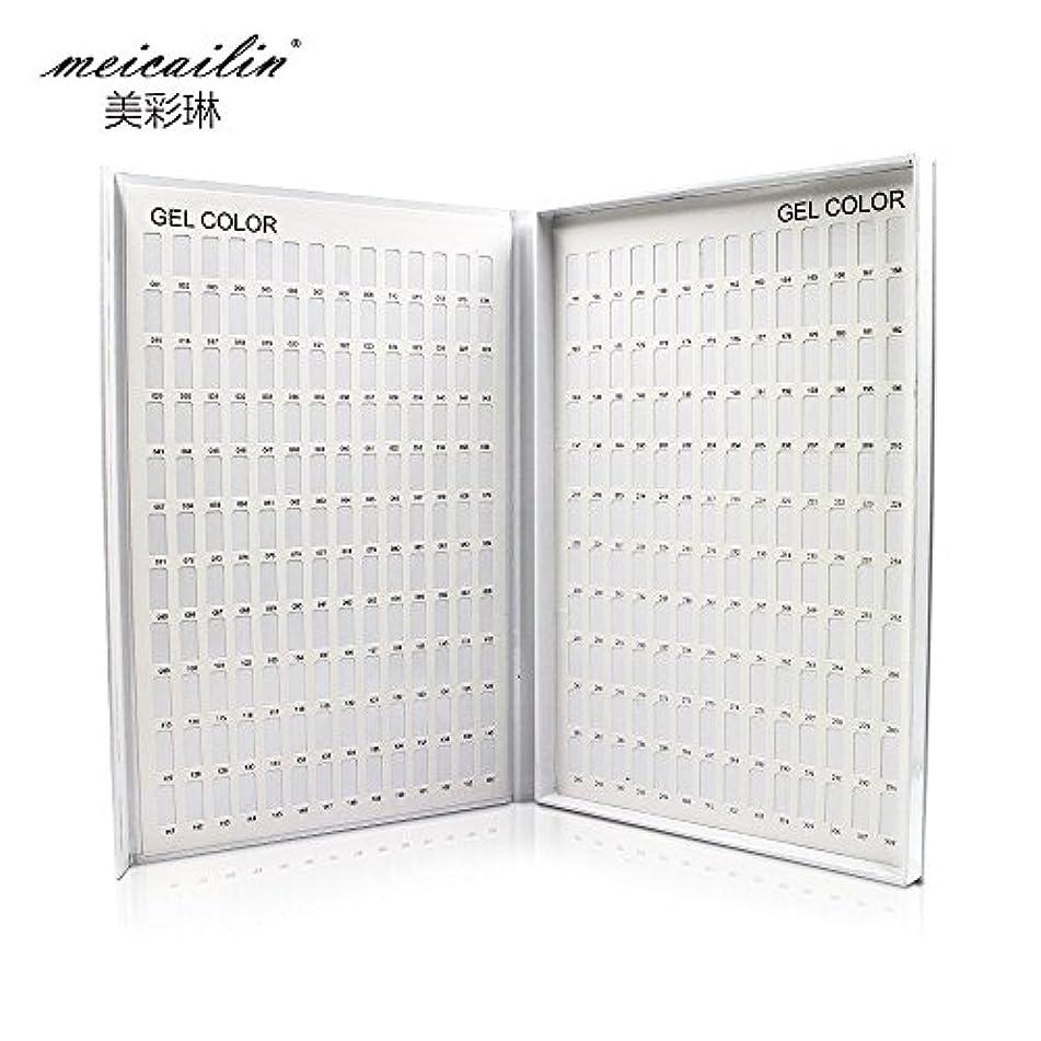 ダイヤル間支出シンディー ネイルアートカラーチャートブック 色見本 サンプル帳 ホワイト 308色