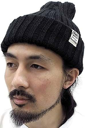 (マルカワジーンズパワージーンズバリュー) Marukawa JEANS POWER JEANS VALUE ニット帽 メンズ 帽子 タグ付き アクリル ワッチ 3color Free ブラック