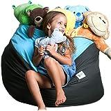 SMART WALLABY 2 Sizes in 1 Large Bean Bag Stuffed Animal Storage | XL Jumbo Ottoman for Soft Toys, Plush Toys | Giant Pouf Or