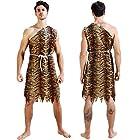 【 すぐ届く 】monoii 原始人 コスプレ 原人 ハロウィン コスチューム 先住民族 衣装 野人 仮装 c060