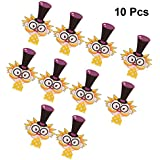 Amosfun 10Pcs Kids Magician Blow Outs Cute Cartoon Noisemaker Blowouts Whistles for KidsParty Gifts Cheering Props