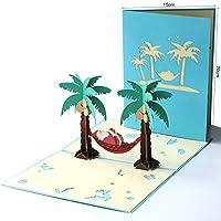 JI BIN USSHOP® ギフトカード、クリスマスカードクリエイティブ3Dステレオクリスマスツリーカード手作りのカスタムギフトカードの紙 * (サイズ さいず : 6#)