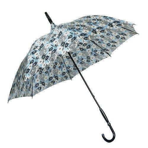 【ANNA SUI】アナスイ 日本製 フラワーデザイン婦人長傘(雨傘) 水色