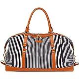 Fitness Bag, Travel Bag Printing Stripe Waterproof Portable Travel Bag Large Capacity Travel Fitness Bag