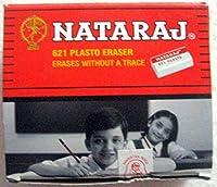 Set of 20 Nataraj 621 Plasto Erasers - White Eraser - Erases without a Trace