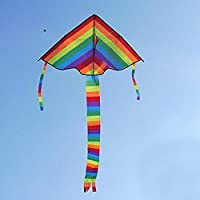qupida新しいLong Tail Rainbow Kiteアウトドア凧FlyingおもちゃKite for Children Kids
