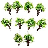パックの10個モデル木1 : 100建物公園風景景色ライトグリーン
