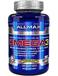 オメガ3 1000mg 180粒 Allmax Nutrition(オールマックスニュートリション)[海外直送品]