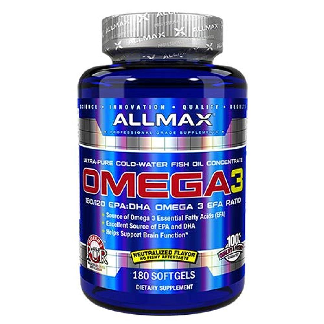 眠いです妻ピザオメガ3 1000mg 180粒 Allmax Nutrition(オールマックスニュートリション)[海外直送品]
