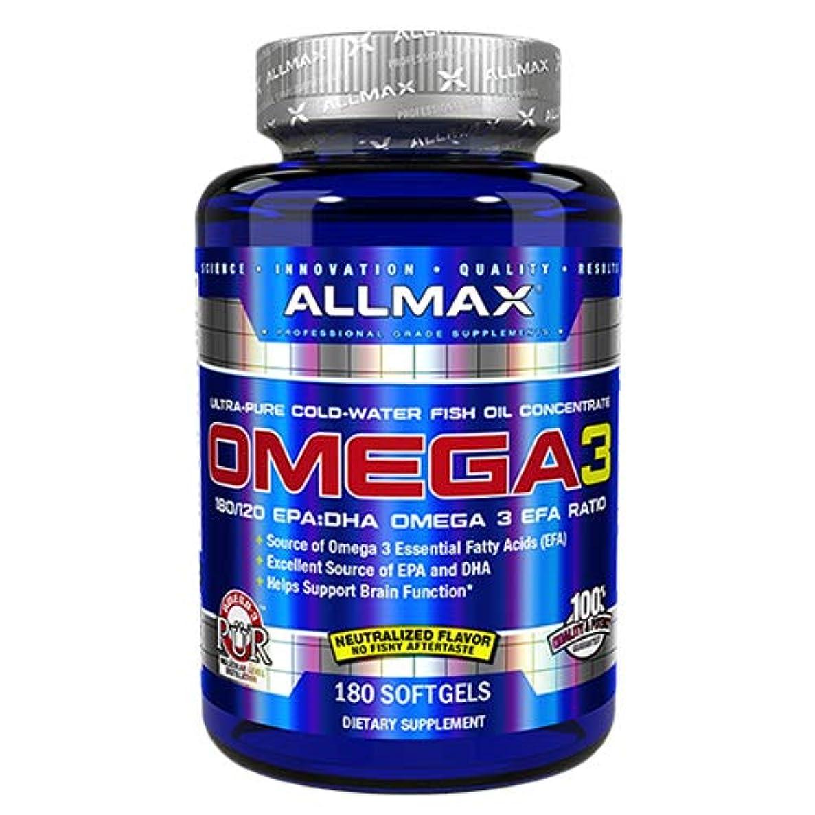 士気スライス中央値オメガ3 1000mg 180粒 Allmax Nutrition(オールマックスニュートリション)[海外直送品]