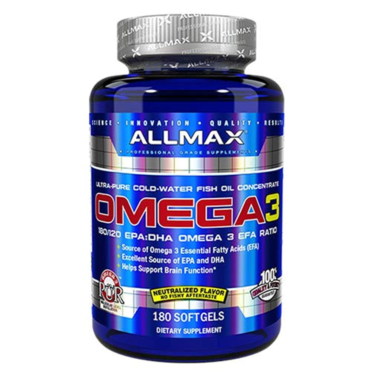 捕虜借りる拘束するオメガ3 1000mg 180粒 Allmax Nutrition(オールマックスニュートリション)[海外直送品]