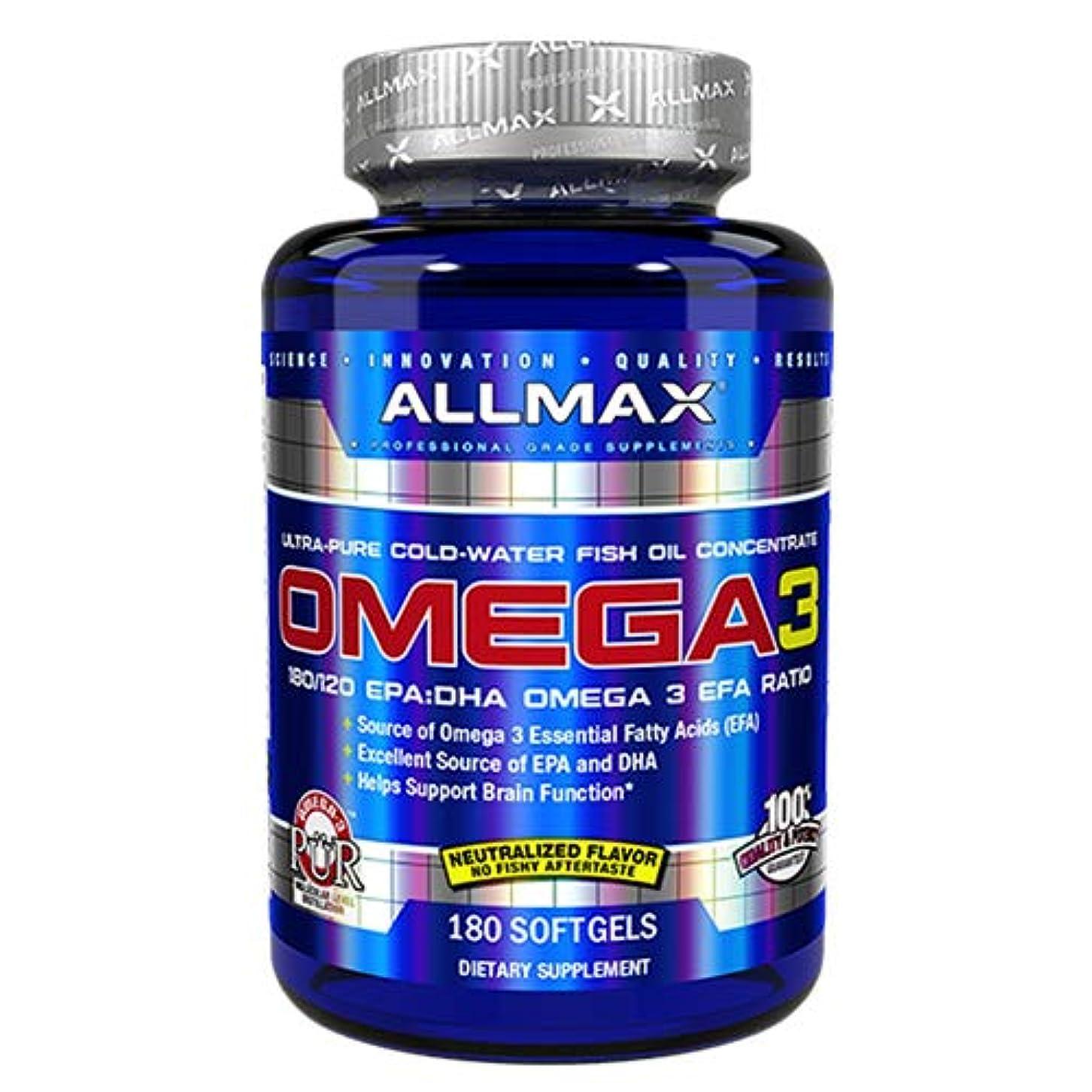 木曜日モンクまだらオメガ3 1000mg 180粒 Allmax Nutrition(オールマックスニュートリション)[海外直送品]