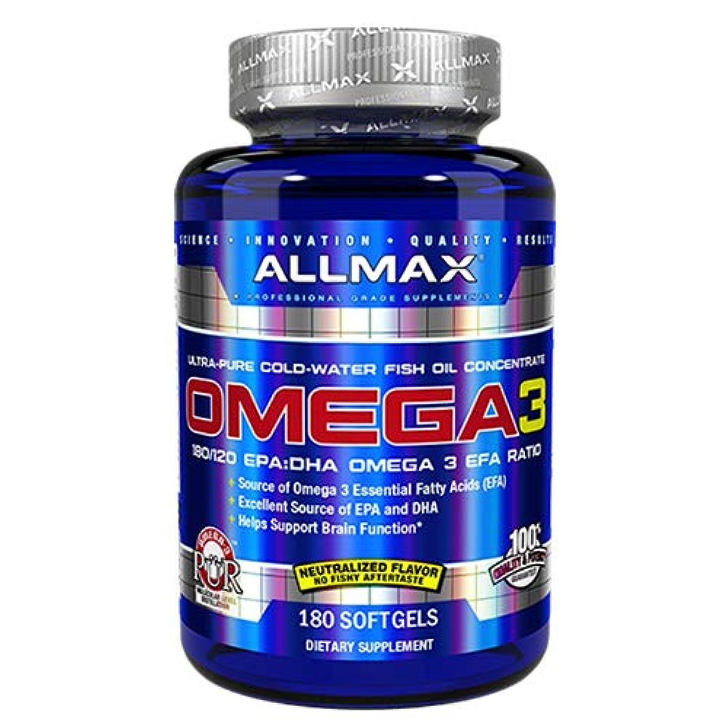 ホイッスルバター鋭くオメガ3 1000mg 180粒 Allmax Nutrition(オールマックスニュートリション)[海外直送品]