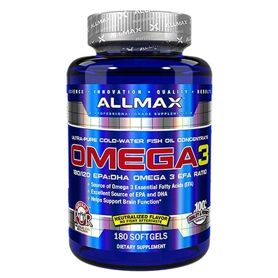 粘液アプローチ忠実にオメガ3 1000mg 180粒 Allmax Nutrition(オールマックスニュートリション)[海外直送品]