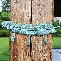 SLH フェザー3つのフック飾りフック錆びた農村の鍛鉄フック壁掛けフックを吊るす