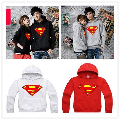 【ノーブランド品】スーパーマン パーカー  XL ホワイト
