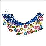 夏祭り装飾 盛夏スイカ花火プリーツハンガー L180cm/ディスプレイ 装飾 飾り  22289