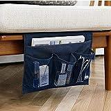 ベッド サイド ポケット ソファー こたつ テーブル掛け袋 テーブル小物 整理 収納ポケット インテリア装飾品 便利 多機能 三色 SPH-048 (ブルーブラック)