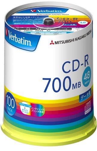 三菱ケミカルメディア Verbatim 1回記録用 CD-R SR80FP100V1E (48倍速/100枚)