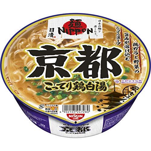 日清 麺NIPPON 京都こってり鶏白湯 109g×12個