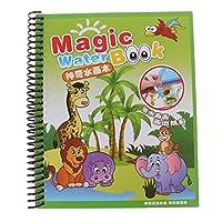 Baoyouls子供の抽選ボード、水書き描画落書きコイル本、魔法の消失ペン、子供の落書きの着色ツール、子供の教育玩具、クリスマスプレゼント(動物園)
