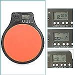 NEEWER 3-in-1デジタル液晶ディスプレイポータブルドラム練習パッドメトロノームドラマートレーニングパッドは調節可能なリズムテンポのビートが付き(オレンジ) 【並行輸入品】