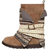 MUK LUKS Boot Fashion Women's Nikki Belt Wrapped, Taupe
