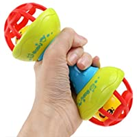 travetランダム色ソフトボールパズルFunベビー幼児玩具Developmentalトイ子供ベッドベル赤ちゃんRattle