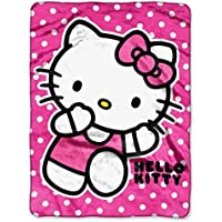 Hello Kitty Royal Plush Raschel Throw Run Kitty by Northwest