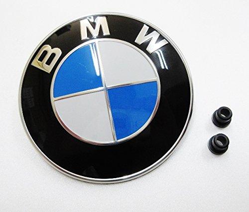 BMW E81 E87 E82 E88 E36 E46 E90 E91 E92 E93 F30 F31 E34 E39 E60 E61 F07 F10 F11 F18 E63 E64 F06 F12 F13 E38 E65 E66 F01 F02 F04 X1 E84 X3 E83 F25 X5 E53 E70 X6 E71 E72 Z3 E36 Z4 E85 純正品 ボンネットフードバッチ ボンネットエンブレム フロントフードバッチ フロントエンブレム+グロメット×2個付き