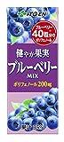 伊藤園 健やか果実 ブルーベリー MIX (紙パック) 200ml×24本