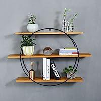ウォールシェルフ、鉄の壁掛けラック、鉄製の本棚、丸い収納ラック (サイズ さいず : 80 * 20 * 60cm)