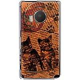 CaseMarket 【ポリカ型】 docomo LUMIX Phone P-02D ポリカーボネート素材 ハードケース [ Cat ウォールペーパー オレンジ ]