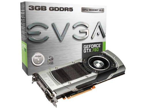 EVGA GeForce gtx7803GB gddr5384bit、デュアルリンクDVI - I、DVI - D、HDMI、DP、SLI Readyグラフィックスカード( 03g-p4–2781-kr )