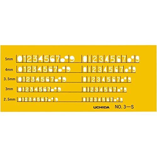 ウチダ テンプレート No.3-S 数字定規 1-843-1013