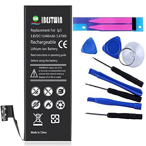 IBESTWIN iPhone5 バッテリー iPhone5交換バッテリー 1440mAh互換用工具セットが付け (iPhone5用)
