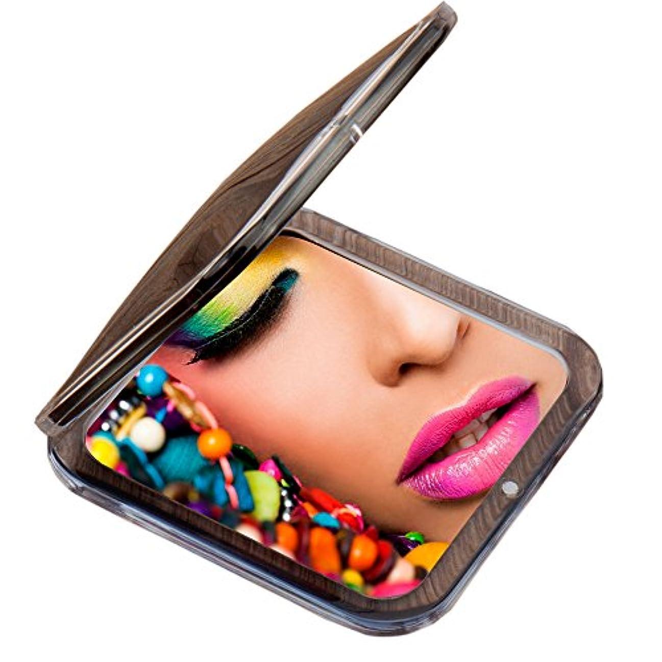 コークス次へもっと少なくMiss Sweet コンパクトミラー 両面鏡 化粧鏡 1倍*10倍拡大鏡 (Black)