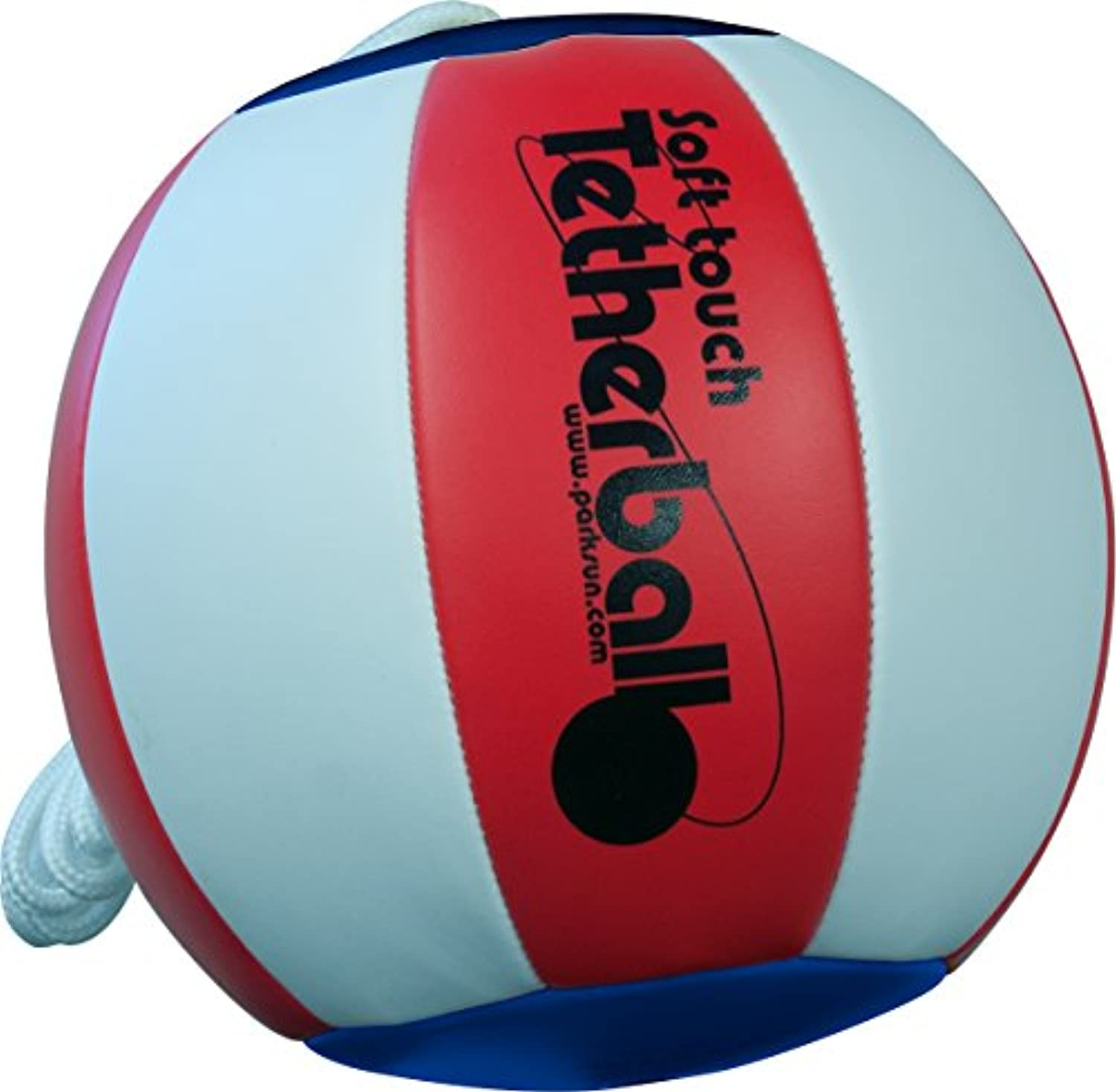 (Americana (Red/White/Blue)) - Park & Sun Sports Soft Touch Tetherball with 2.1m Nylon Cord and Clip