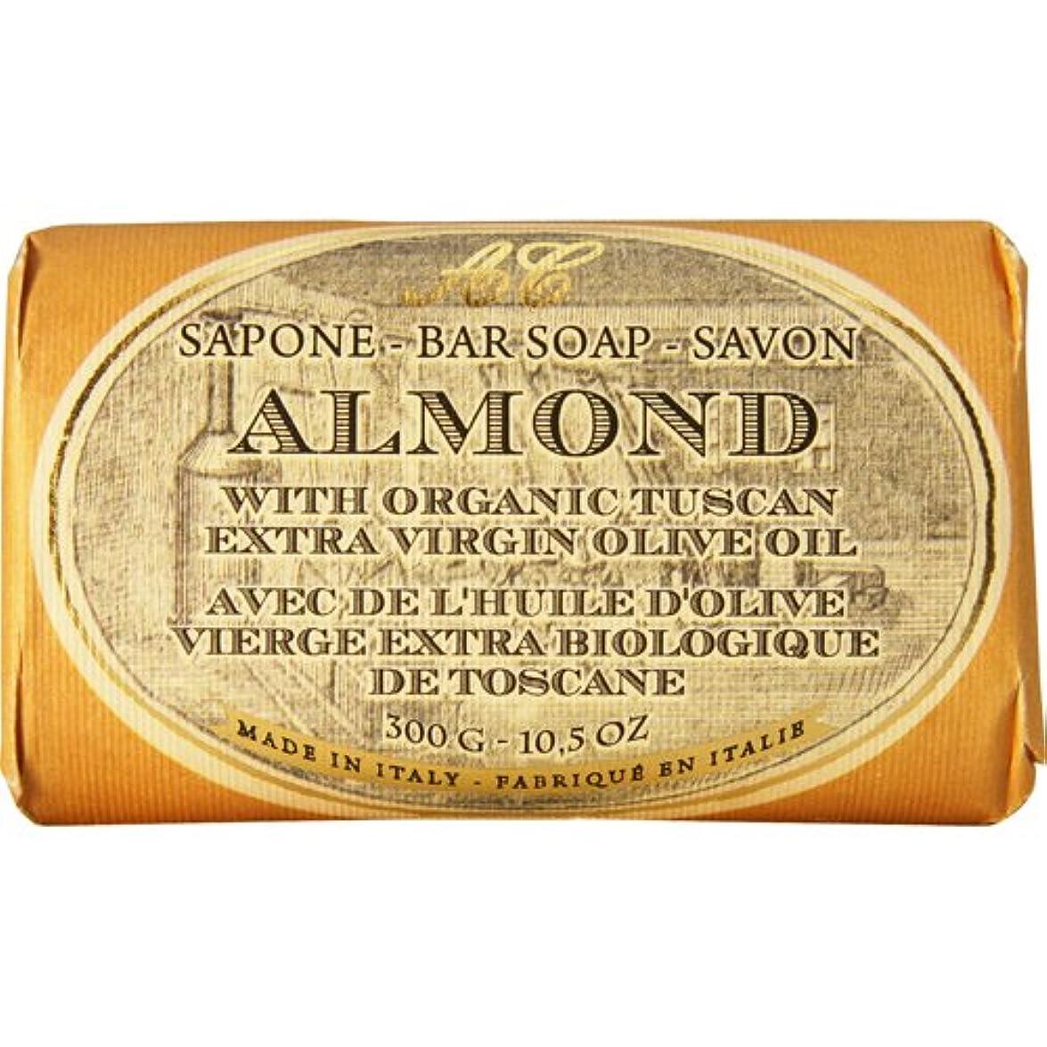 歩く講師好奇心Saponerire Fissi レトロシリーズ Bar Soap バーソープ 300g Almond アーモンドオイル