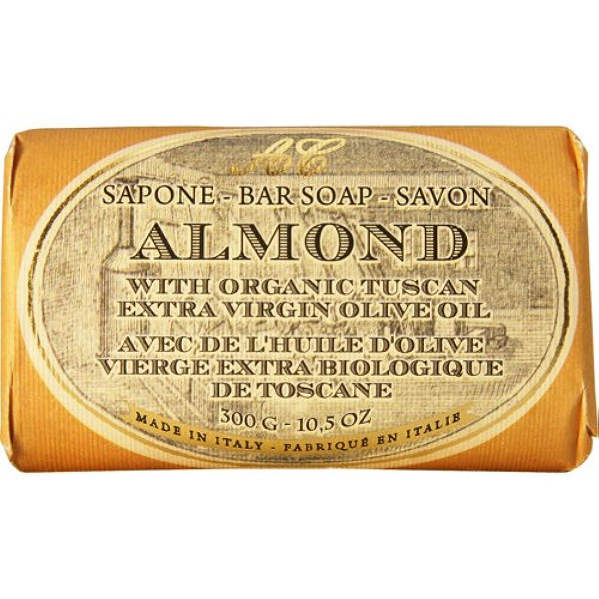 しなやかフォーム年齢Saponerire Fissi レトロシリーズ Bar Soap バーソープ 300g Almond アーモンドオイル